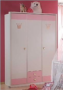 babyzimmer kinderzimmer cinderella 7 teilig wei rosa db96. Black Bedroom Furniture Sets. Home Design Ideas