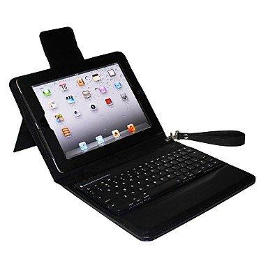 Etui avec clavier & support ( Métal , Noir ) - Couleur unie pour Pomme iPad 2/iPad 4/iPad 3