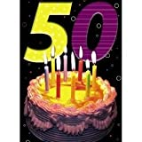 Happy 50th Birthday - 3D Holographic Greetings Card