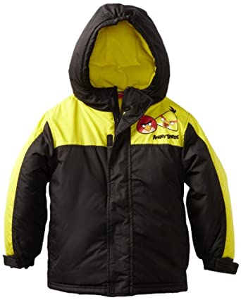 Angry Birds Boys 2-7 Flying High Coat, Black, 4