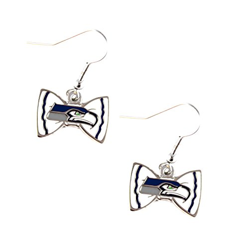 Sports-Team-Seattle-Seahawks-Bow-Tie-Dangle-Earring-Set