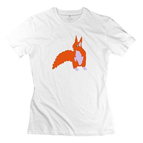 ZZY Geek Squirrel T-shirt - Women's Tshirts White