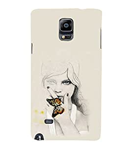 EPICCASE Butterfly Angel Mobile Back Case Cover For Samsung Galaxy Note Edge (Designer Case)