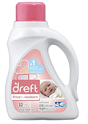 Dreft Stage 1: Newborn Liquid Laundry Detergent , 50 oz, 32 loads