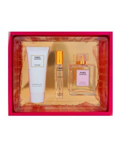 Sandora Fragrances discount duty free Paris Mademoiselle Perfume for Women 3 Piece Set; Perfume 3.4 Fl. 0z, Mini Perfume .07 Fl. Oz. And Moisturizing Lotion