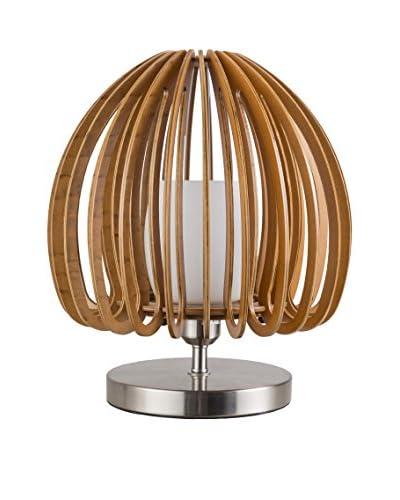 Surya Floki Flower Bud-Shaped 1-Light Table Lamp, Wood