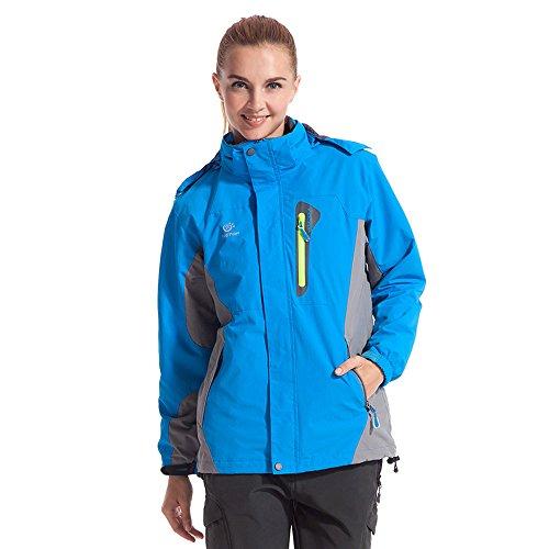 Tectop Women'S Waterproof Hooded Rain Jacket