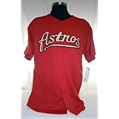 Houston Astros Authentic Majestic Red Jersey with 2004 All Star Game Patch