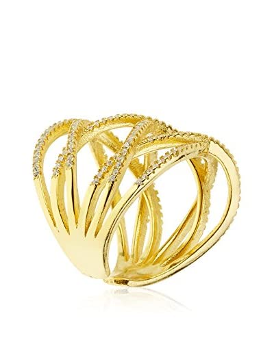 ANDREA BELLINI Anello Cage Croisade [argento 925 bagnato oro]