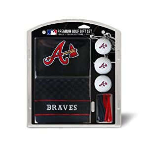 MLB Atlanta Braves Embroidered Towel Gift Set, Navy by Team Golf