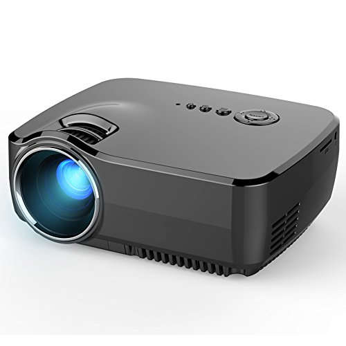 ERISAN PWLGP70 1200 Lumens Multimedia Mini Pro Portable LCD LED Home Theater Projector Support 1080P Video With TV/IP/IR/USB/SD/HDMI/VGA