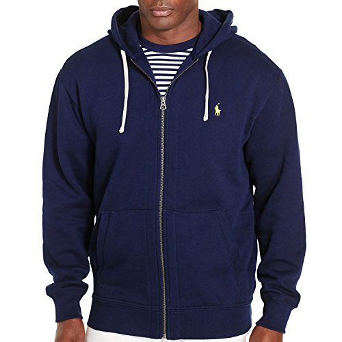 Polo Ralph Lauren Big & Tall Athletic Fleece Hoodie, Cruise Navy, 2XLT (Ralph Lauren Thermal Hoodie compare prices)