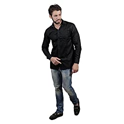 Akaas Men's Combo of 2 Formal Shirt_Black,Brown