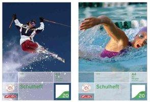 Herlitz Schulheft 3er-Pack DIN A4 16 Blatt / Lineatur 38 (kariert mit 2 Rändern) / CO² reduziert (holzfreies Papier, 80g/m² weiß)