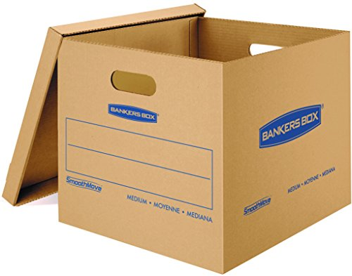 Bankers Box Smooth Move Classic Moving Boxes, Medium, 10 Pack (7717204) (Cardboard Boxes With Handles compare prices)