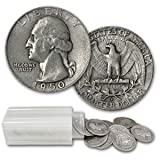 $10.00 (40ct) Roll 90% Silver Coin - (Washington Quarters)