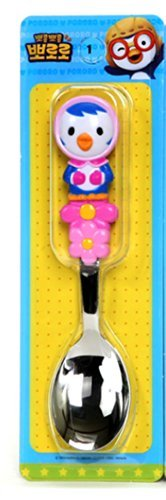 Pororo Kids Children Spoon Handle Three-dimensional (Patty) - 1