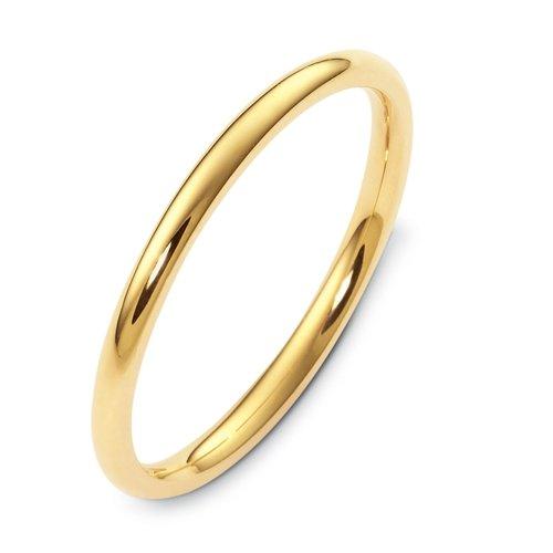 10K Yellow Gold, Heavy Inside Round 2MM Wedding Band (sz 7.5)