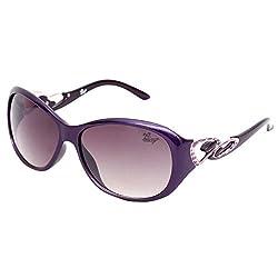 Bling Black Gradient Mercury finish Oval Sunglasses for Women (BS1004 008)