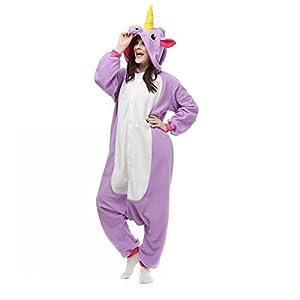 UBeauty Unisex-adult Kigurumi Onesie Unicorn Pajamas (M, Purple)
