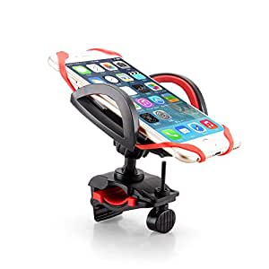 Voscale Bike Phone Mount Holder with Tight Rubber Band, Bicycle/Motorcycle Handlebar Cellphone Cradle Adjustable to Fit Any Smart Phone (Iphone, Samsung ,Nokia, Motorola...), Iphone 6. (Red)
