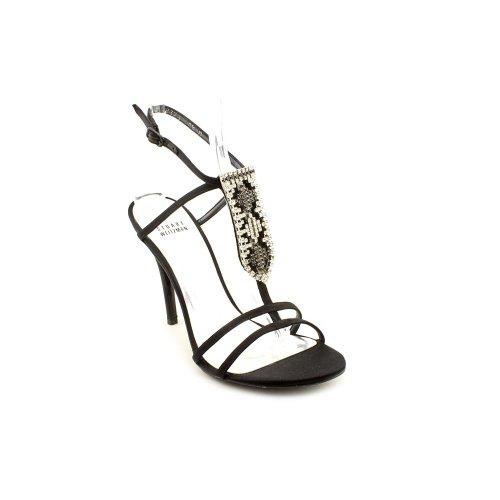 Stuart Weitzman Tabaka Womens Size 8.5 Black Fabric Dress Sandals Shoes