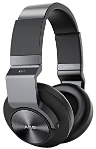 AKG K545 Geschlossene Over-Ear Kopfhörer mit Bedieneinheit und Mikrofon Kompatibel mit iOS und Android Smartphones - Schwarz