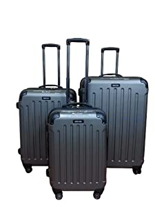 Kenneth Cole Renegade 3-piece Hardside Spinner Luggage Set (Silver)