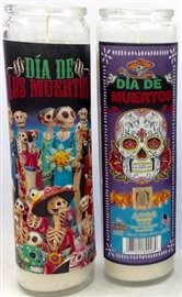 Dia de los Muertos Candle Pack of 3