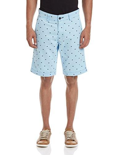 Basics Men's Cotton Shorts (8907054873920_15BSS33425_30_Blue)