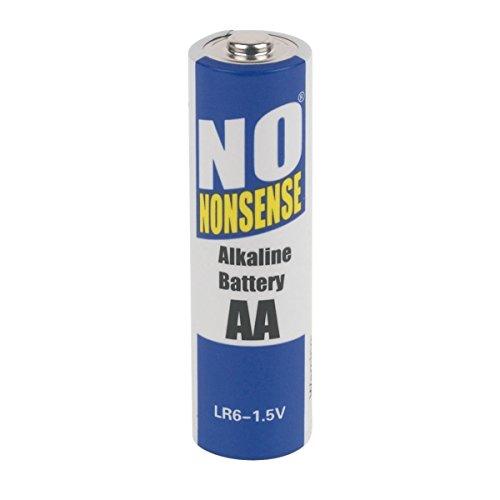 No Nonsense Pile alcaline AA (LR6) de - Lot de 8 piles (4 + 4 gratuit) x 5 Paquets = 40