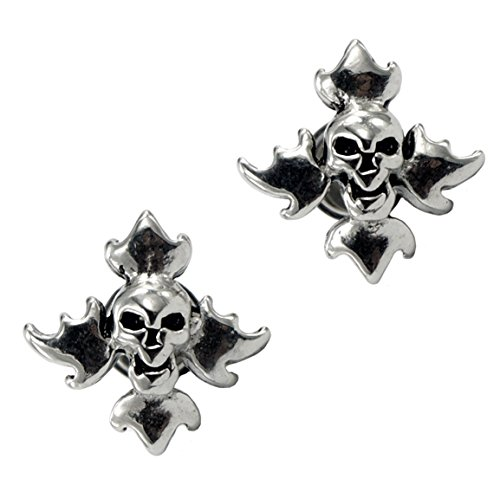 lilments-flamed-skull-hypoallergenic-stainless-steel-stud-screw-cheater-plugs-earrings