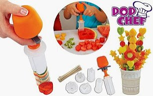 Shopo Pop Chef Just Push Pop And Create Pop Chef Fruit Cutter Food Salad Decorator