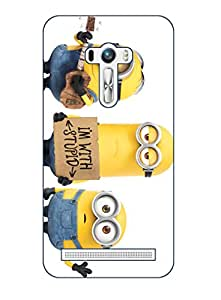Happoz ASUS Zenfone 2 Laser 5.5 Inches (ZE550KL) Cases Back Cover Mobile Pouches Shell Hard Plastic Graphic Armour Premium Printed Designer Cartoon Girl 3D Funky Fancy Slim Graffiti Imported Cute Colurful Stylish Boys D134