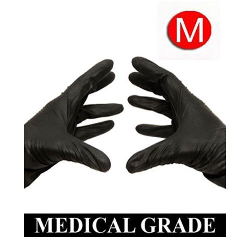 1000/Case Disposable Powder-Free Black Nitrile Medical Exam Gloves (Latex Free) Size-Medium 5 Mil (Black Latex Gloves 1000 compare prices)