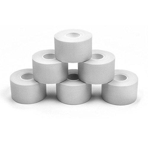 6 x Sport tape 2,5 cm x 10 cm Colore: bianco
