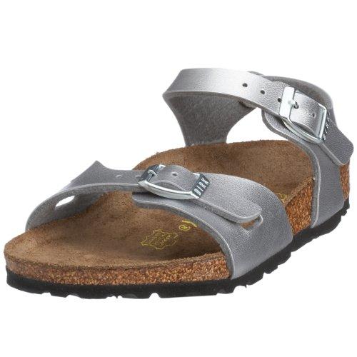 Birkenstock Rio Birko-Flor, Style-No. 31893, Children Sandals, Silver, EU 27, slim width