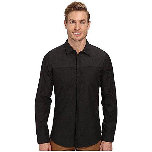 (カルバンクライン) Calvin Klein メンズ トップス 長袖シャツ Color Block Heather Solid Long Sleeve Woven Shirt 並行輸入品