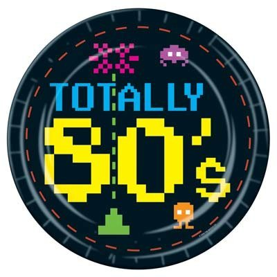 Totally 80's Retro Gamer Theme Party Plates