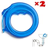 Hair Drain Clog Remover Drain Relief Tool for Drain Cleaning 17''(2 Pairs)