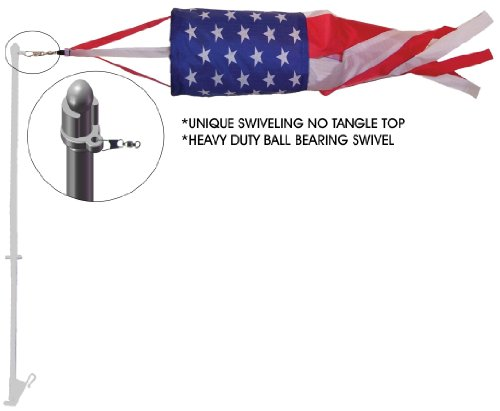 In the Breeze Patriotic Spinsock with Car Pole, 14-Inch