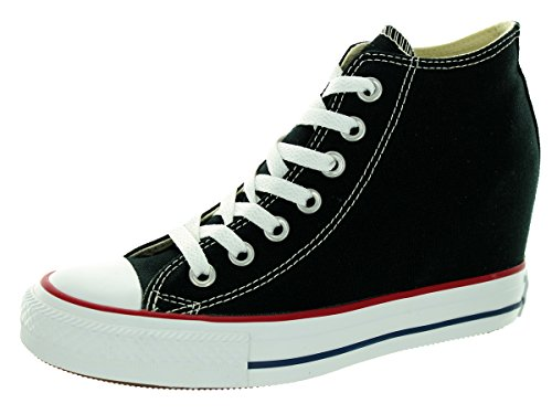 Converse Women's Chuck Taylor Lux Mid Black Casual Shoe 5.5 Women US