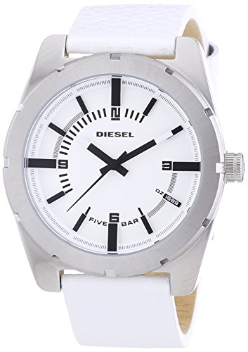 beseriet diesel dz1599 montre homme quartz analogique bracelet cuir blanc. Black Bedroom Furniture Sets. Home Design Ideas