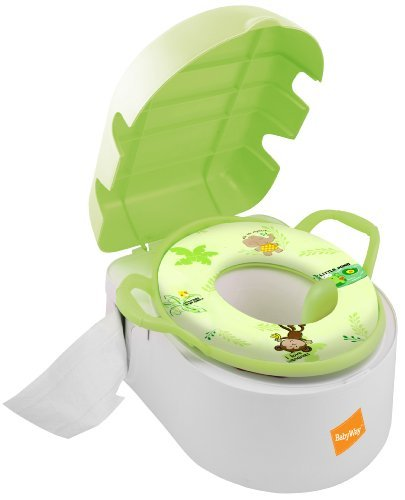 Babyway Deluxe Tot Pot/ Step Stool/ Padded Toilet Seat 3-in-1