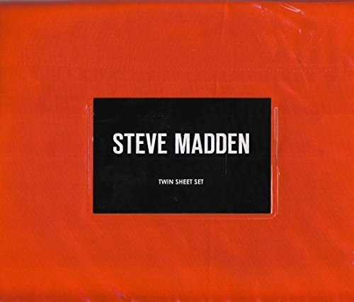 steve-madden-pumpkin-orange-twin-sheet-set-polyester-microfiber
