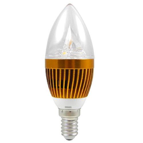 MENGS® E14 3W LED Kerze wie Lampe Birne 3x 1W SMD LEDs LED Leuchtmitte mit Aluminium-Karosserie (Kaltweiß 6000K, 280 Lumen, 60º Abstrahlwinkel, E14 Sockel 85V - 240V AC - Ø40×103mm) Energiespar Licht