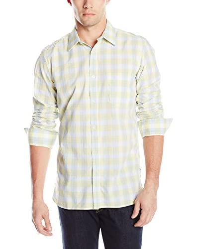 French Connection Men's Core Silicon Peach Long Sleeve Shirt