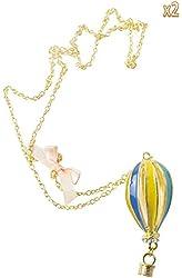 niceeshop(TM) Women Alloy Hot Air Balloon Pendant Chain Necklace