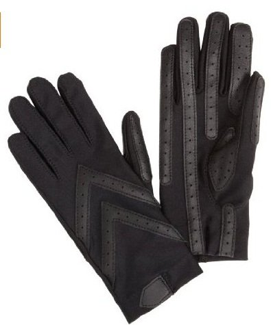 Totes Isotoner Womens Unlined Leather Palm Driving Gloves (Pack Of 2), Black