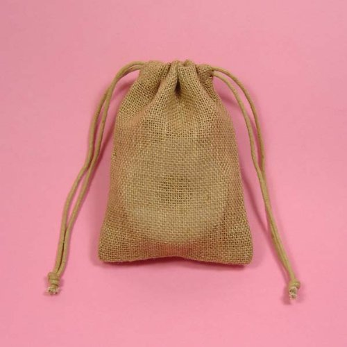 24 3x5 Wedding Burlap Bags with Double Drawstrings
